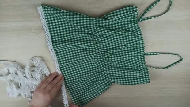 Швея купила недорогую рубашку и сшила элегантный женский комплект
