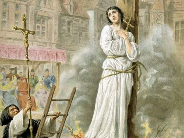 Жанна д'Арк - жертва церкви. \ Фото: politikakulvari.com.