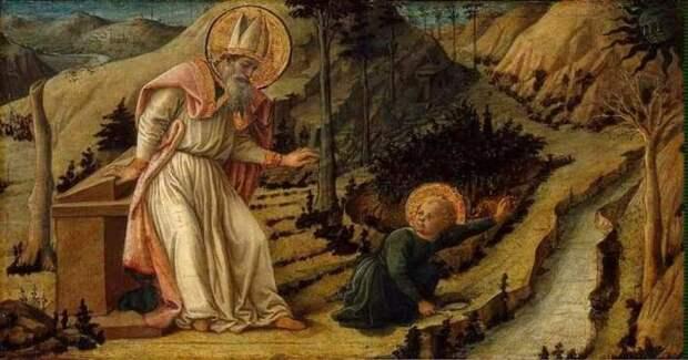 Видение Святого Августина, Фра Филиппо Липпи, 1460 год. \ Фото: twitter.com.