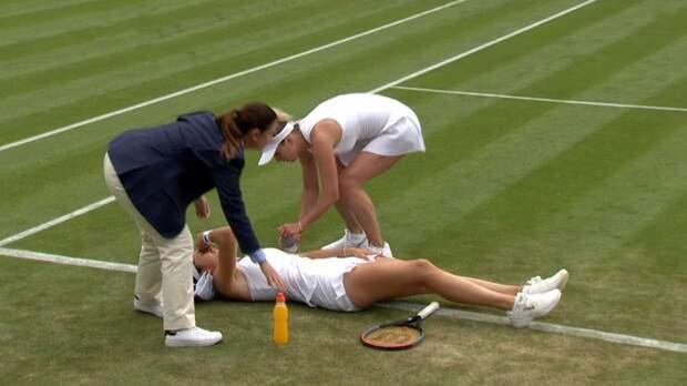 Гаспарян разрыдалась накорте Уимблдона. Она побеждала украинскую звезду, носнялась из-за судорог