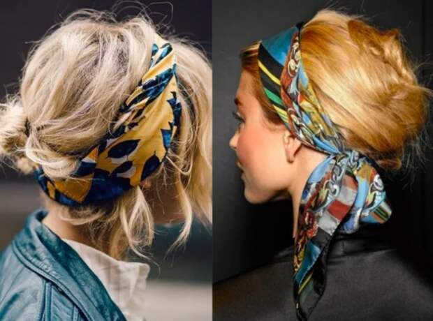 Платки в волосах (подборка)