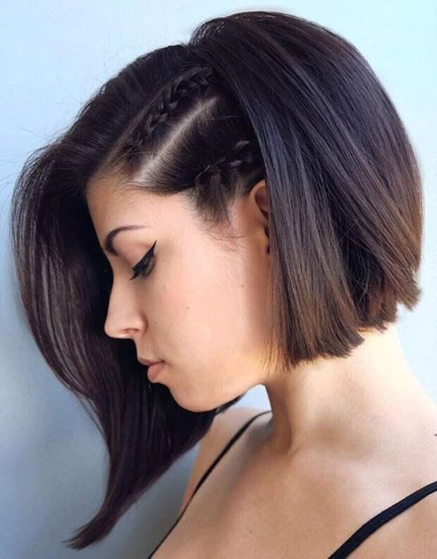 Косички для отрастающих волос