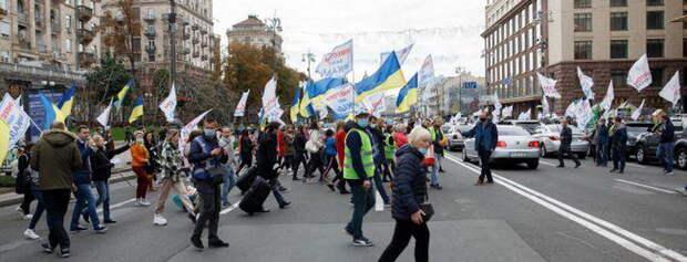 Центр Киева заблокирован протестующими