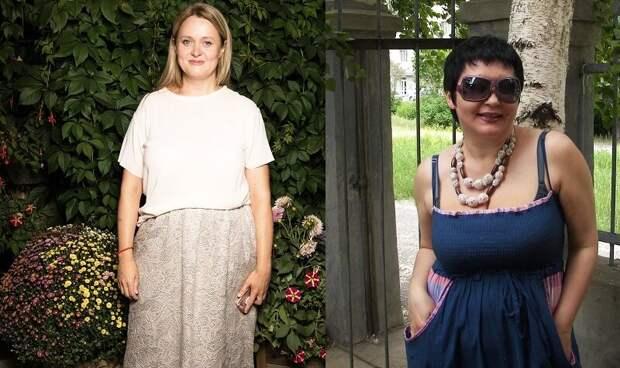 И Анна (слева), и я набрали по 15 кг лишнего веса, прежде, чем начали худеть