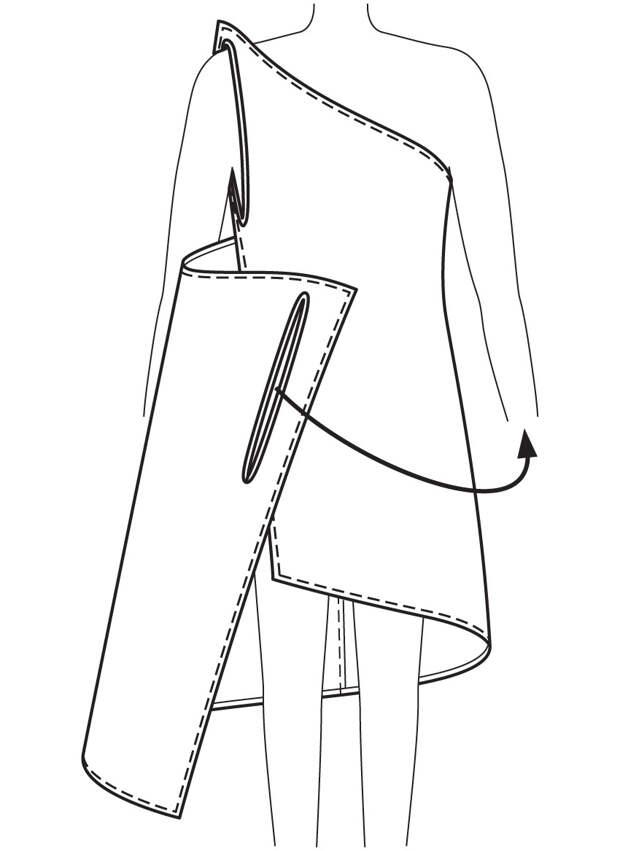 Так платье драпируется вокруг тела