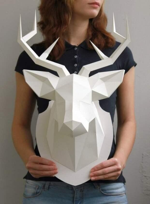 Бумажная голова оленя