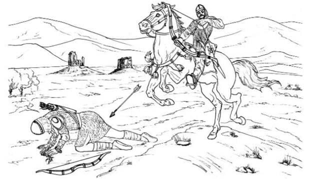 Предполагаемая сцена убийства амазонки