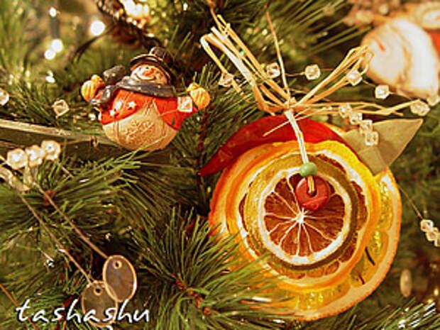МК Апельсиновый декор для елки. | Ярмарка Мастеров - ручная работа, handmade