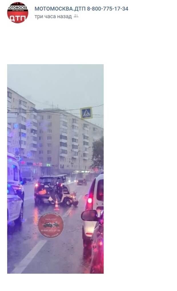 На Дубнинской столкнулись «Тойота» и мотоцикл