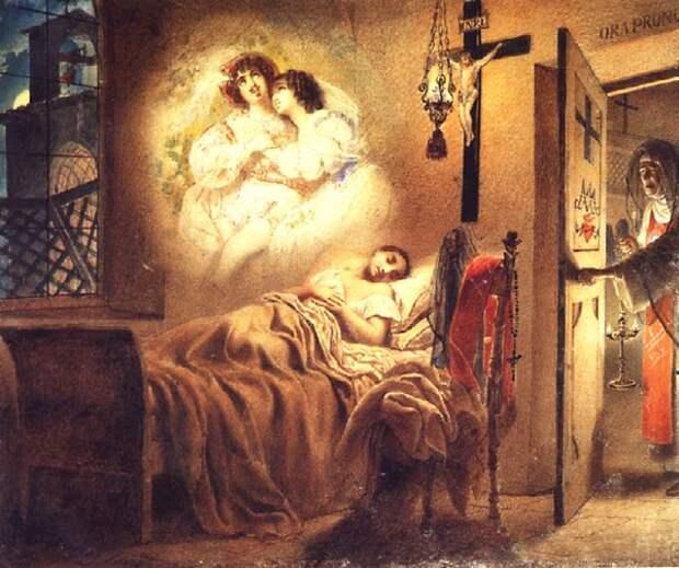 """Карл Брюллов. """"Сон монашенки"""". 1831"""