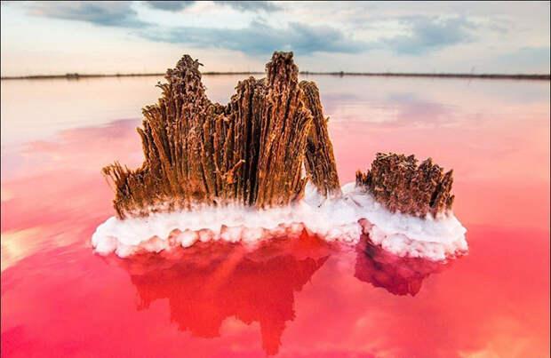 Цвет озер зависит от микроводорослей, живущих в нем. Фото: Сергей Анашкевич.