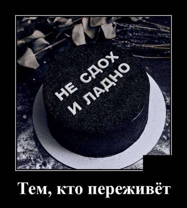 Демотиватор про торты