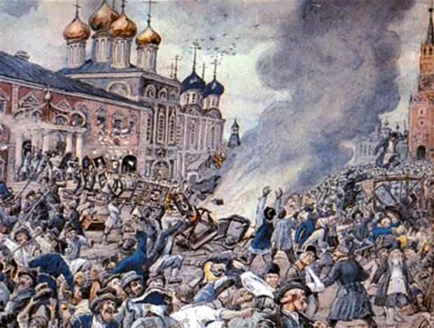 Чумной бунт в Москве. 1771 год