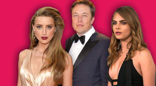 Кажется, у Илона Маска был тройничок с Карой Делевинь и Эмбер Хёрд