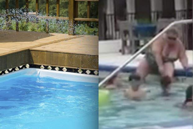 Женщина побрила ноги прямо в бассейне и распугала всех посетителей