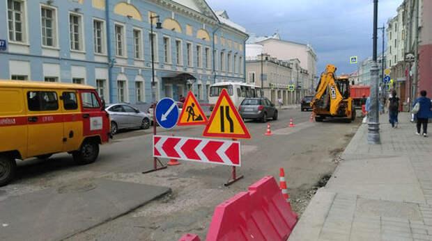 Улицу Сретенка в Москве закрыли для автомобилей на выходные