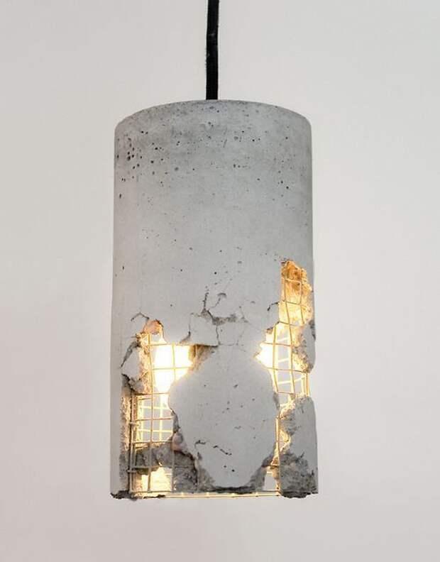 Лампа в стиле Loft (бетон)