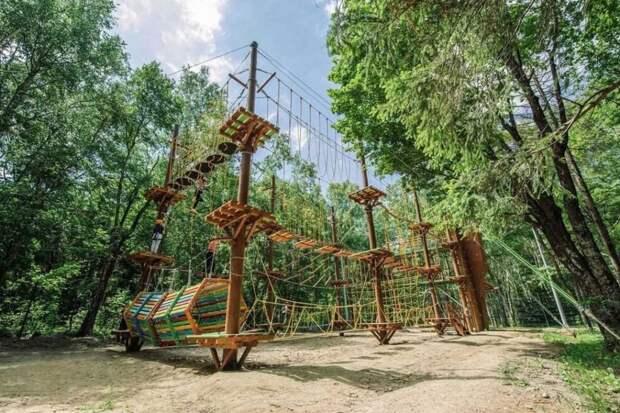 Веревочный панда-парк в парке «Яуза» построят до конца сентября