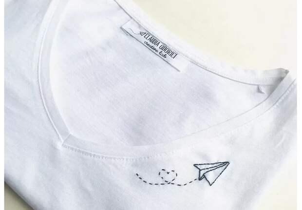 Вышивка на футолках (20 идей)