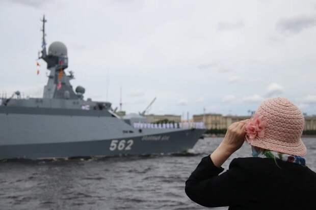 """Силен, как бык"": британцы восхитились репетицией парада ко Дню ВМФ России"