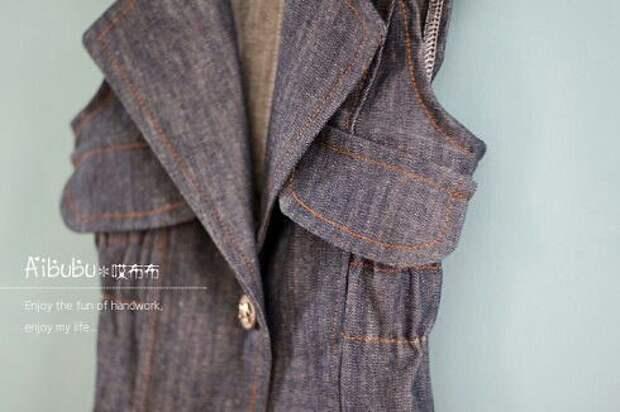 Выкройка джинсового жилета