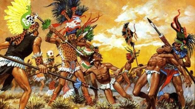 Вместо того, чтобы убивать вражеских солдат, ацтеки предпочитали захватывать их в плен, чтобы потом приносить в жертву богам. Гибель противника на поле боя считалась неуклюжестью воина, который не сумел захватить его живым исторические факты, история, факты, человечество