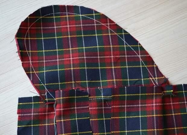 Обработка внутреннего бокового кармана платья, шаг 12