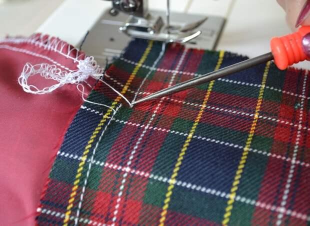 Обработка внутреннего бокового кармана платья, шаг 15
