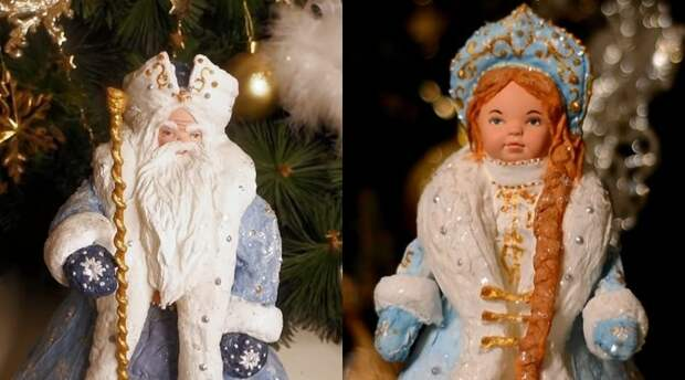 Новогоднее чудо: как дешёвых китайских пупсов превратить в нарядных Деда Мороза и Снегурочку