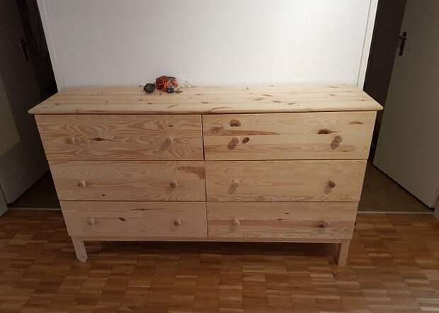 Как простенький комод из IKEA превратить в стильный предмет мебели