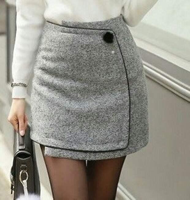 Новая старая юбка на запах (выкройки)