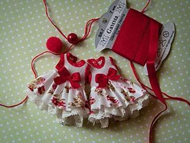 Шьем платье на маленькую куклу   Ярмарка Мастеров - ручная работа, handmade