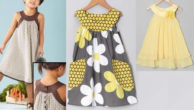 Оригинальные платья для девочек - выкройки и идеи