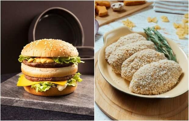 Покупные котлеты и бургеры содержат много калорий