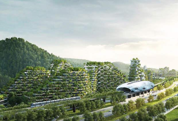 Все здания «лесного города» гармонично впишутся в существующий ландшафт. | Фото: travelask.ru/ vertaki.com.ua.