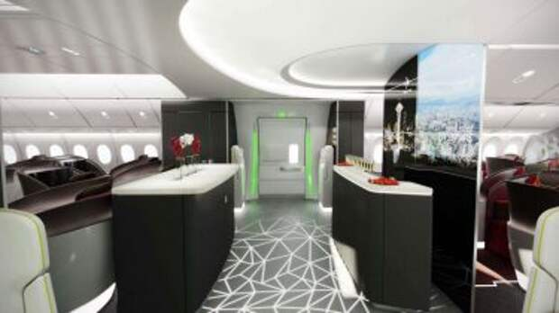 Концепт салона бизнес класса Boeing 777X