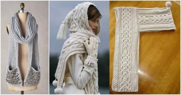 Тёплая и стильная зима: 15 классных моделей вязаных шарфов