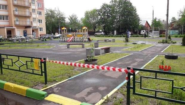 Подольчан просят сообщать о детских площадках без сигнальных лент на горячую линию