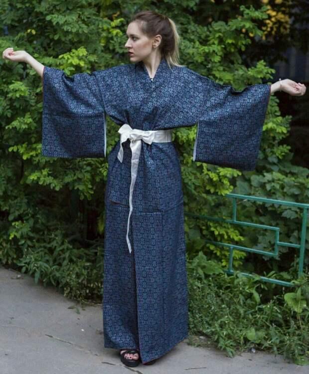 Выкройка кимоно юката