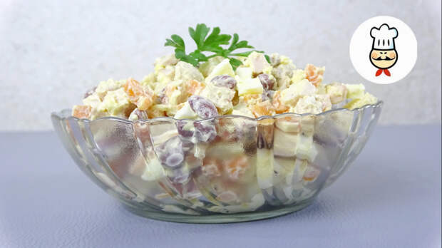 Фото к рецепту: Салат  каприз  без майонеза