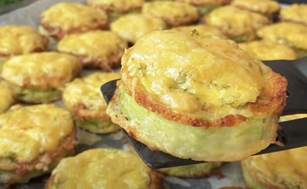 Жарим кабачки как мясо по-французски, под сыром