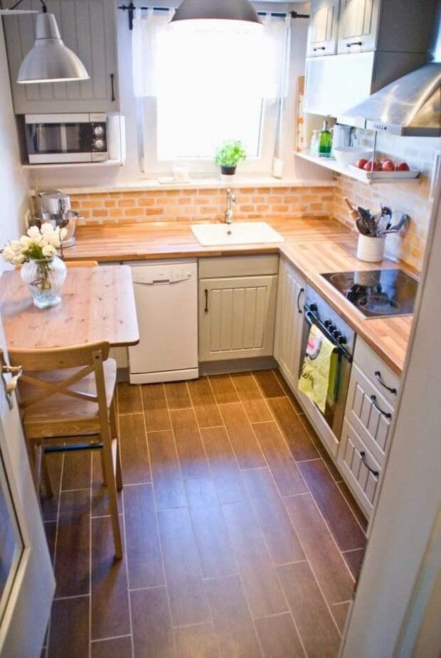 Сохранения квадратных метров: 17 компактных и уютных кухонь
