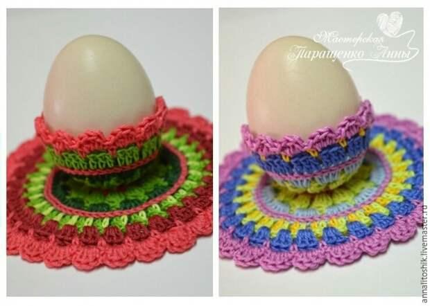 Подставки под яйца крючком (diy)