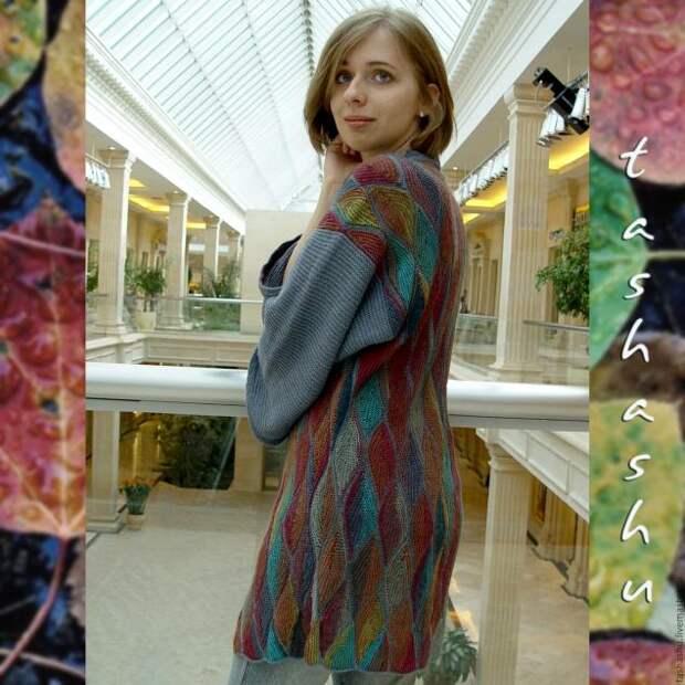 """Невероятно красивый вязаный пэчворк """"Осенние листья"""". МК"""