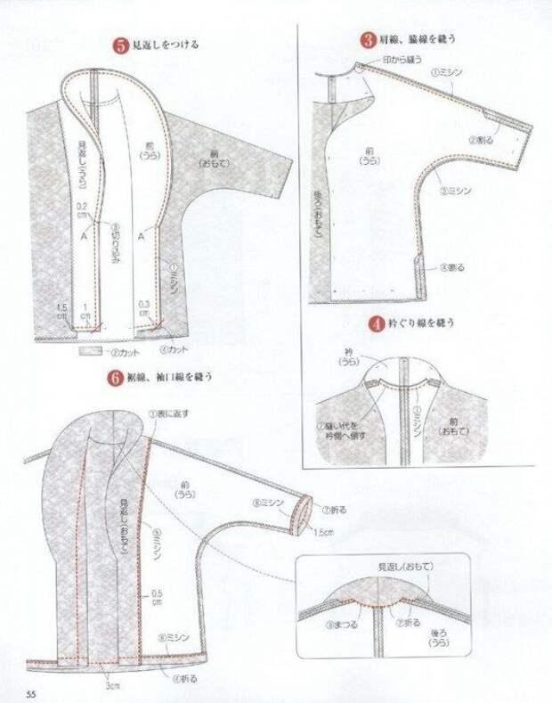 японская выкройка пальто накидки