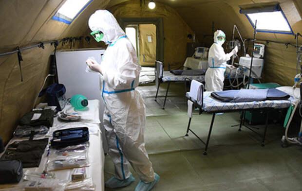 Российские военные отправили мобильный госпиталь в Южную Осетию