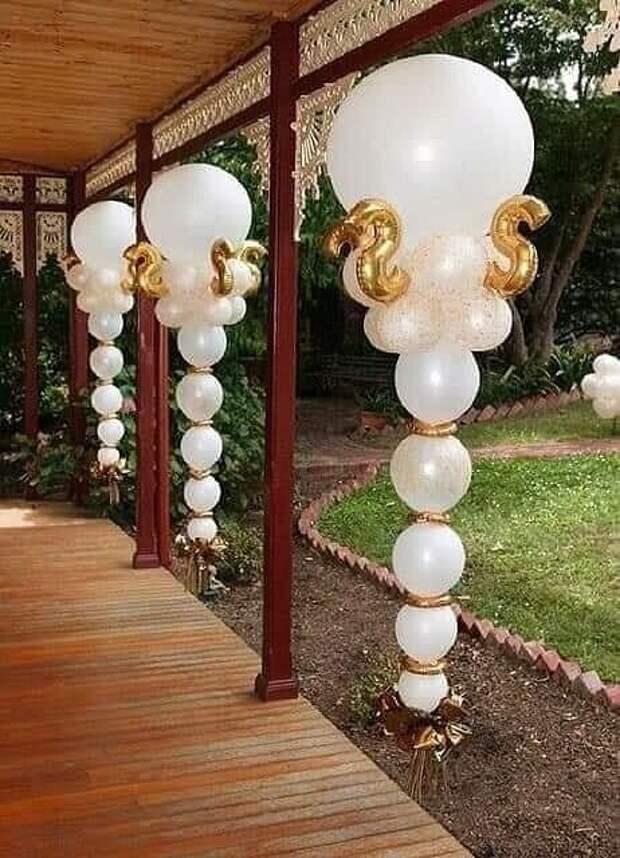 Идеи декора из шариков для вечеринки