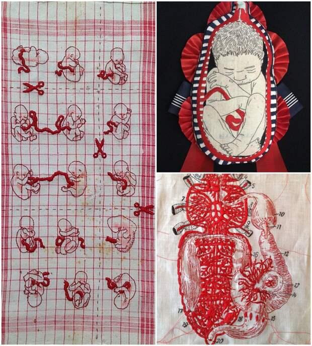 Провокационные темы в современной вышивке