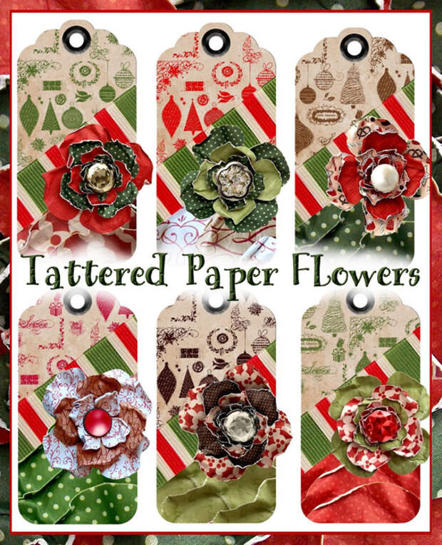 Tattered_Paper_Flowers_Christmas_Tags_Sample (567x700, 545Kb)