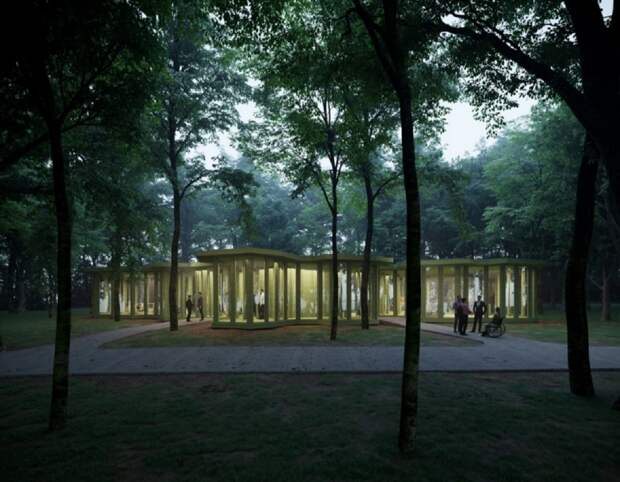 Павильон инклюзивного центра начали возводить на территории парка «Швейцария»